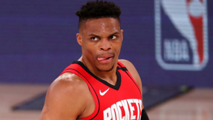 Russell Westbrook Houston Rockets (Photo by Mike Ehrmann/Getty Images)