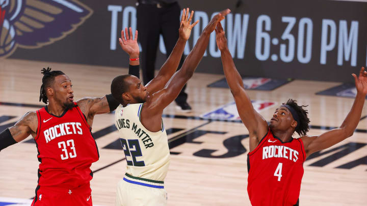 Khris Middleton (Photo by Mike Ehrmann/Getty Images)