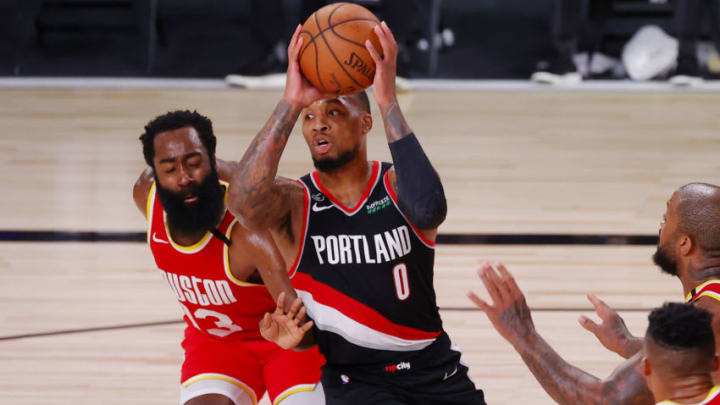 James Harden Damian Lillard (Photo by Kevin C. Cox/Getty Images)