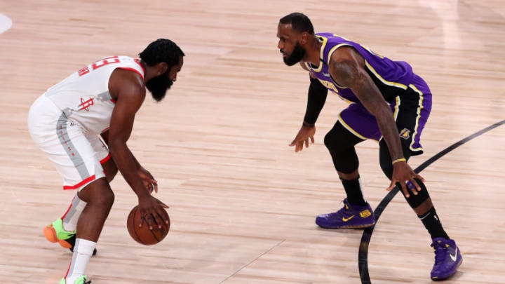 James Harden #13 of the Houston Rockets (Photo by Mike Ehrmann/Getty Images)