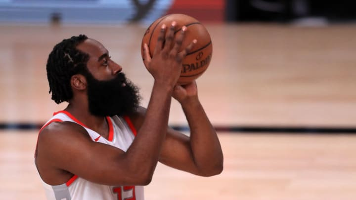 Houston Rockets James Harden (Photo by Mike Ehrmann/Getty Images)