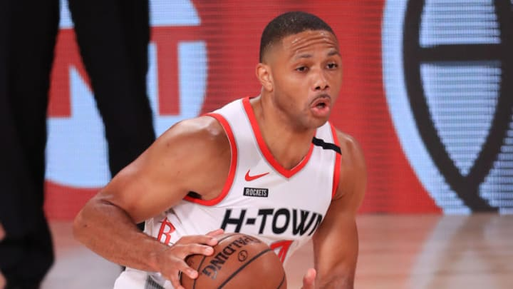 Eric Gordon #10 of the Houston Rockets (Photo by Mike Ehrmann/Getty Images)