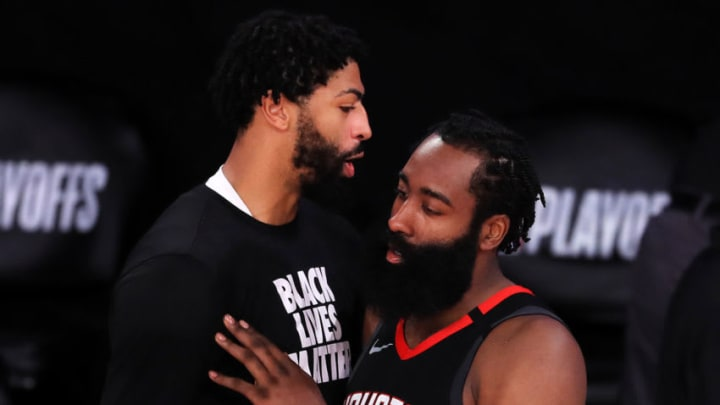 Anthony Davis James Harden (Photo by Michael Reaves/Getty Images)