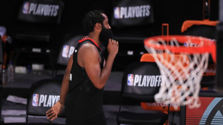 James Harden #13 of the Houston Rockets (Photo by Michael Reaves/Getty Images)