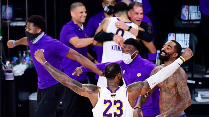 LeBron James #23 of the Los Angeles Lakers (Photo by Douglas P. DeFelice/Getty Images)