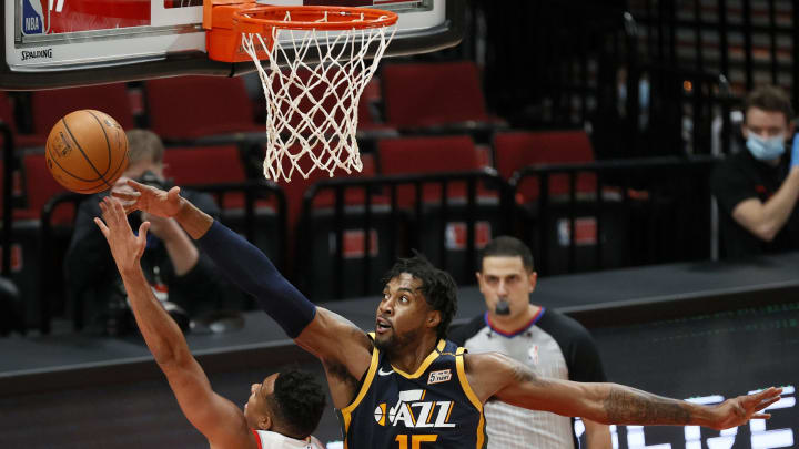 Derrick Favors #15 of the Utah Jazz (Photo by Steph Chambers/Getty Images)