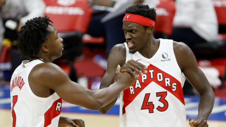 Pascal Siakam #43 of the Toronto Raptors (Photo by Tim Nwachukwu/Getty Images)