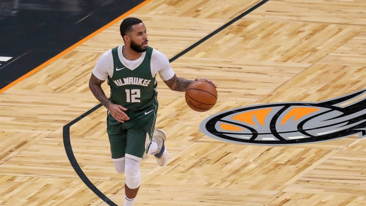 D.J. Augustin #12 of the Milwaukee Bucks (Photo by Alex Menendez/Getty Images)
