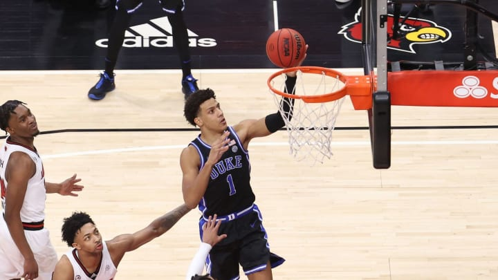 Jalen Johnson #1 of the Duke Blue Devils (Photo by Andy Lyons/Getty Images)