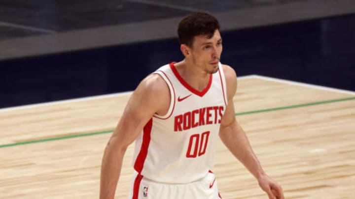 Rodions Kurucs #00 of the Houston Rockets (Photo by Ronald Martinez/Getty Images)