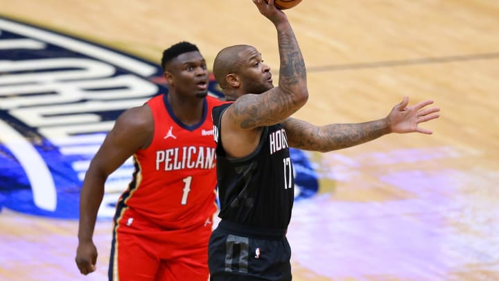 P.J. Tucker #17 of the Houston Rockets (Photo by Jonathan Bachman/Getty Images)