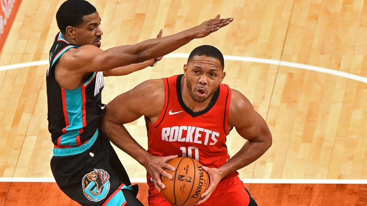 Eric Gordon #10 of the Houston Rockets (Photo by Justin Ford/Getty Images)