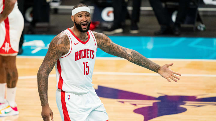DeMarcus Cousins #15 of the Houston Rockets (Photo by Jacob Kupferman/Getty Images)