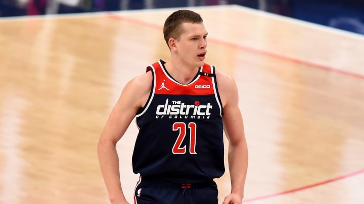 Moritz Wagner #21 of the Washington Wizards (Photo by Will Newton/Getty Images)