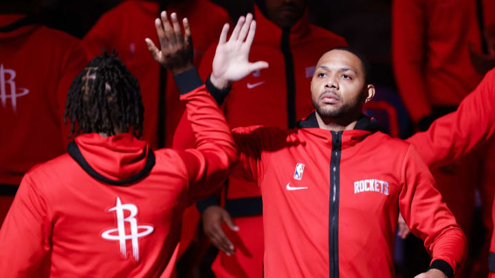 Eric Gordon #10 of the Houston Rockets (Photo by Tim Nwachukwu/Getty Images)