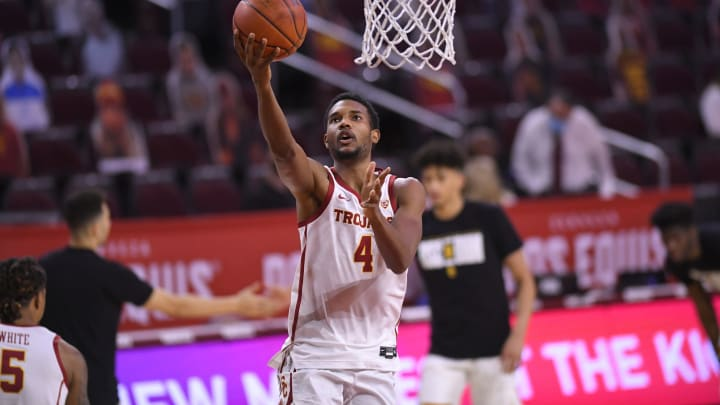 Evan Mobley #4 of the USC Trojans (Photo by John McCoy/Getty Images)