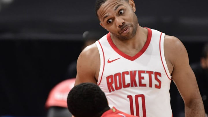 Eric Gordon #10 of the Houston Rockets (Photo by Douglas P. DeFelice/Getty Images)