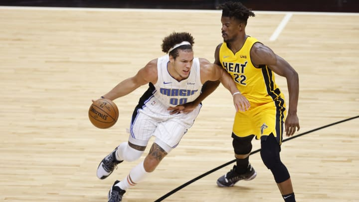 Aaron Gordon #00 of the Orlando Magic (Photo by Michael Reaves/Getty Images)