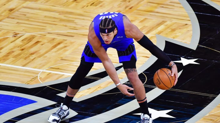 Aaron Gordon #00 of the Orlando Magic (Photo by Julio Aguilar/Getty Images)