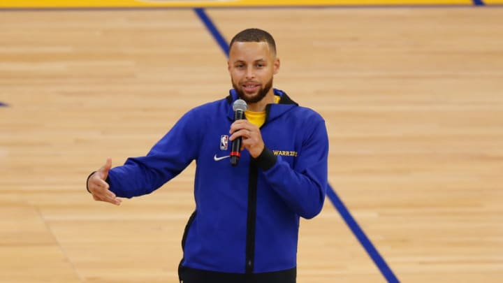 Stephen Curry #30 of the Golden State Warriors (Photo by Lachlan Cunningham/Getty Images)