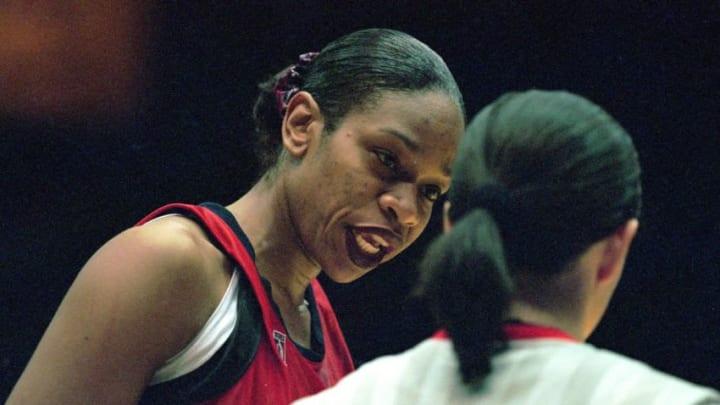 Tina Thompson #7 of the Houston Comets (Mandatory Credit: Kellie Landis /Allsport)