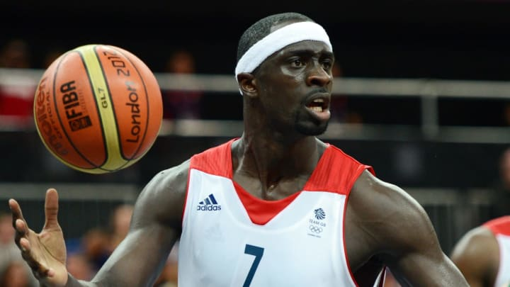 Pops Mensah-Bonsu (Photo credit should read TIMOTHY A. CLARY/AFP/GettyImages)