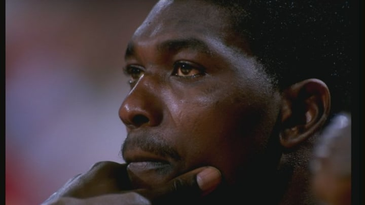 Houston Rockets Hakeem Olajuwon Mandatory Credit: Tim de Frisco /Allsport