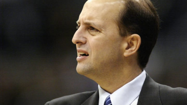 Head coach Jeff Van Gundy of the Houston Rockets (Photo by Lisa Blumenfeld/Getty Images)