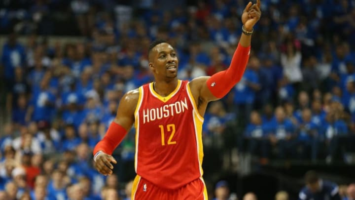 Dwight Howard #12 of the Houston Rockets (Photo by Ronald Martinez/Getty Images)