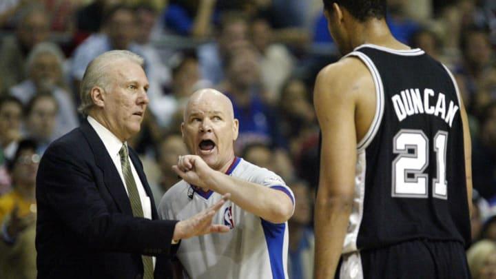 San Antonio Spurs Tim Duncan (Photo credit should read JEFF HAYNES/AFP via Getty Images)