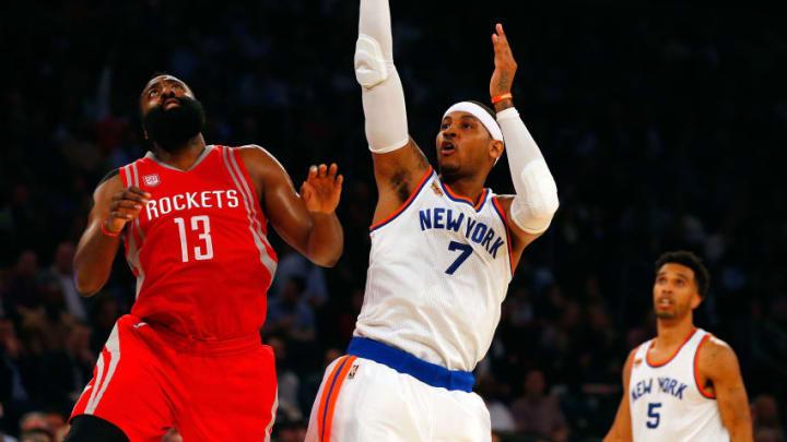 NEW YORK, NY - NOVEMBER 02: (NEW YORK DAILIES OUT) Carmelo Anthony
