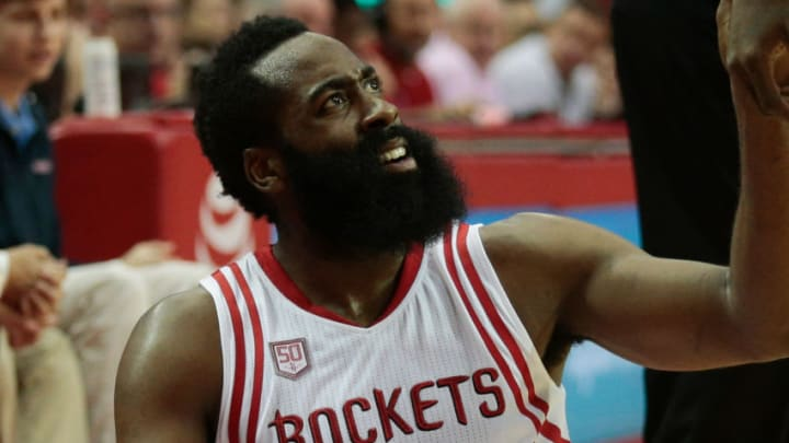 James Harden #13 of the Houston Rockets (Photo by Bob Levey/Getty Images)