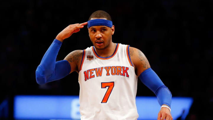 BROOKLYN, NY - MARCH 12: (NEW YORK DAILIES OUT) Carmelo Anthony
