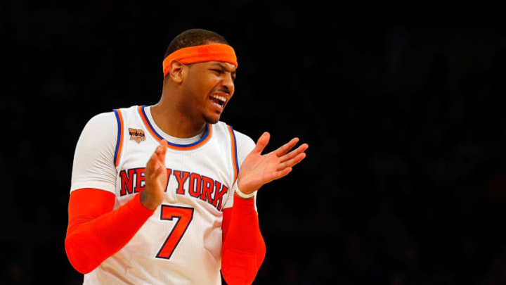 NEW YORK, NY - FEBRUARY 12: (NEW YORK DAILIES OUT) Carmelo Anthony