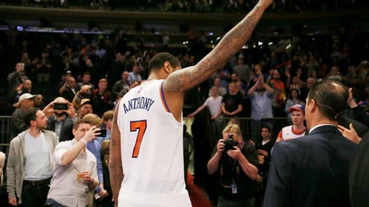 NEW YORK, NY - APRIL 12: Carmelo Anthony