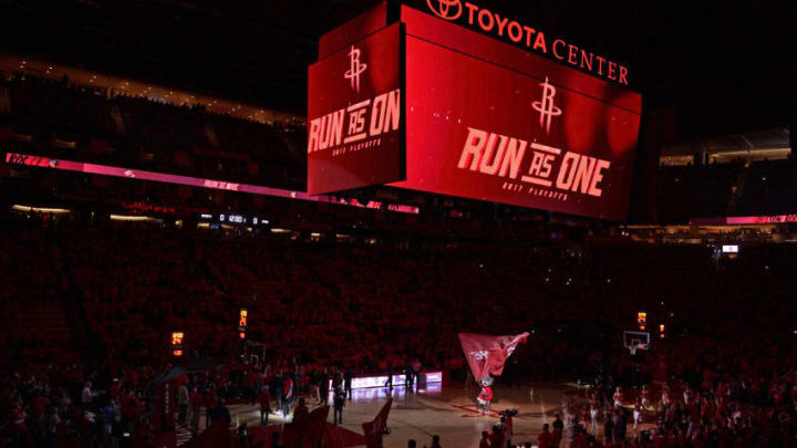 HOUSTON, TX - MAY 11: A general view of Toyota Center before Game Six of the Western Conference Semifinals between the San Antonio Spurs and the Houston Rockets during the 2017 NBA Playoffs on May 11, 2017 in Houston, Texas. NOTE TO USER: User expressly acknowledges and agrees that, by downloading and or using this photograph, User is consenting to the terms and conditions of the Getty Images License Agreement. Mandatory Copyright Notice: Copyright 2017 NBAE (Photo by David Dow/NBAE via Getty Images)