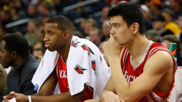 Houston Rockets Yao Ming Tracy McGrady (Photo by Justin Sullivan/Getty Images)