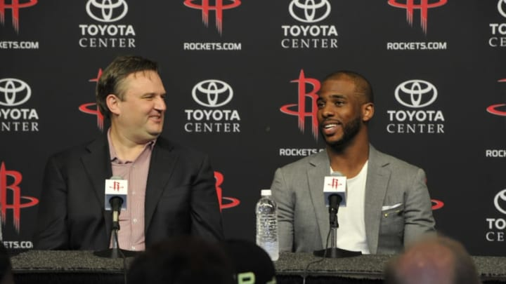General Manager Daryl Morey of the Houston Rockets introduces