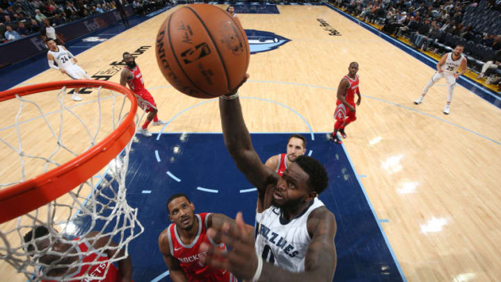 JaMychal Green #0 of the Memphis Grizzlies goes to the basket against the Houston Rockets (Photo by Joe Murphy/NBAE via Getty Images)