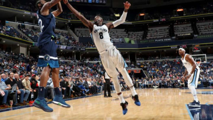 MEMPHIS, TN – DECEMBER 4: Andrew Wiggins #22 of the Minnesota Timbewolves shoots the ball as James Ennis III #8 of the Memphis Grizzlies attempts to block during the game between the two teams on December 4, 2017 at FedEx Forum in Memphis, Tennessee. (Photo by Joe Murphy/NBAE via Getty Images)