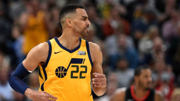Thabo Sefolosha #22 of the Utah Jazz looks on during their game against the Houston Rockets (Photo by Gene Sweeney Jr./Getty Images)
