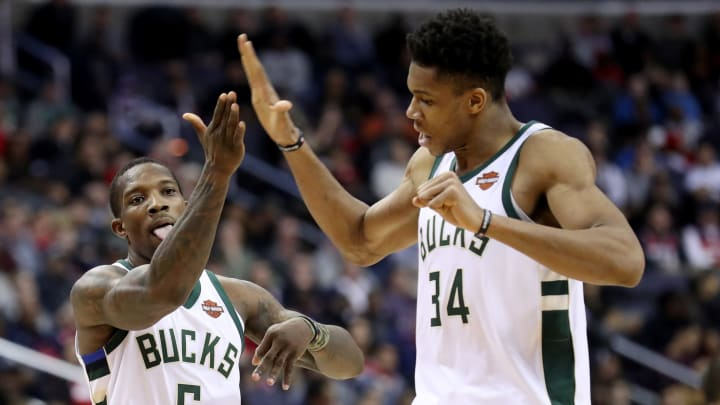 Eric Bledsoe Giannis Antetokounmpo (Photo by Rob Carr/Getty Images)