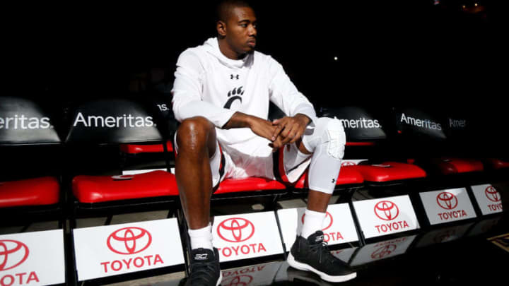 HIGHLAND HEIGHTS, KY - FEBRUARY 25: Gary Clark #11 of the Cincinnati Bearcats waits to take the court for pregame introductions prior to the game against the Tulsa Golden Hurricane at BB&T Arena on February 25, 2018 in Highland Heights, Kentucky. (Photo by Michael Reaves/Getty Images)