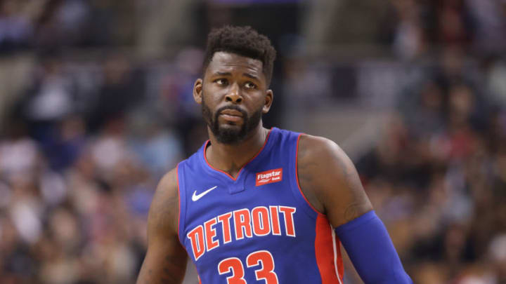TORONTO, ON - FEBRUARY 26: James Ennis #33 of the Detroit Pistons during their game against the Toronto Raptors at Air Canada Centre on February 26, 2018 in Toronto, Canada. NOTE TO USER: User expressly acknowledges and agrees that, by downloading and or using this photograph, User is consenting to the terms and conditions of the Getty Images License Agreement. (Photo by Tom Szczerbowski/Getty Images)