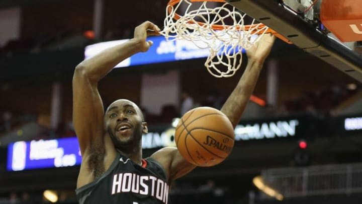 Houston Rockets Luc Mbah a Moute (Photo by Bob Levey/Getty Images)