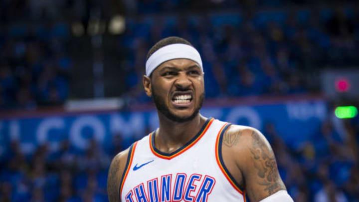 Carmelo Anthony #7 of the Oklahoma City Thunder