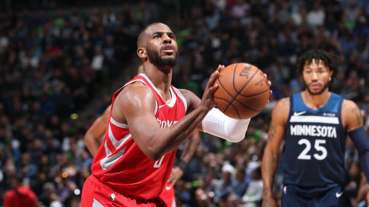 Chris Paul #3 of the Houston Rockets (Photo by David Sherman/NBAE via Getty Images)