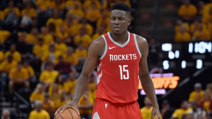 Clint Capela #15 of the Houston Rockets Photo by Gene Sweeney Jr./Getty Images