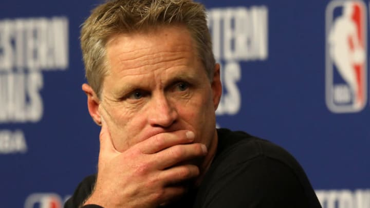 Head coach Steve Kerr of the Golden State Warriors (Photo by Ronald Martinez/Getty Images)