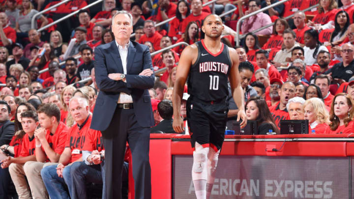 Houston Rockets Eric Gordon Mike D'Antoni (Photo by Andrew D. Bernstein/NBAE via Getty Images)